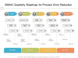 DMAIC Quarterly Roadmap For Process Error Reduction