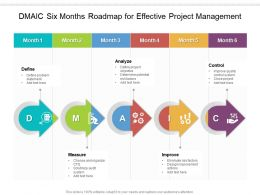 DMAIC Six Months Roadmap For Effective Project Management
