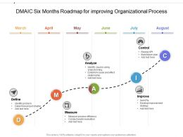 DMAIC Six Months Roadmap For Improving Organizational Process