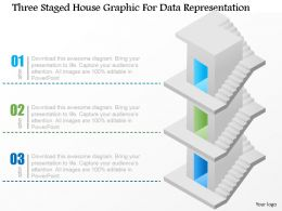 Dn Three Staged House Graphic For Data Representation Powerpoint Template