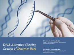 DNA Alteration Showing Concept Of Designer Baby