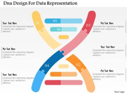 Dna Design For Data Representation Flat Powerpoint Design