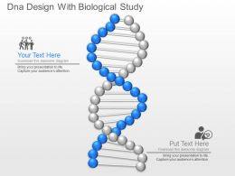 Dna Design With Biological Study Powerpoint Template Slide