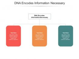DNA Encodes Information Necessary Ppt Powerpoint Presentation Slides Templates Cpb