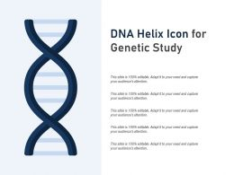 DNA Helix Icon For Genetic Study
