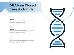 DNA Icon Closed From Both Ends