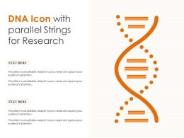 DNA Icon With Parallel Strings For Research
