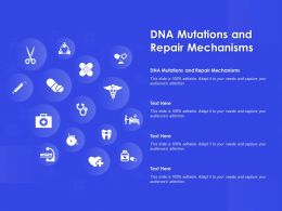 DNA Mutations And Repair Mechanisms Ppt Powerpoint Presentation Slides Graphic Tips