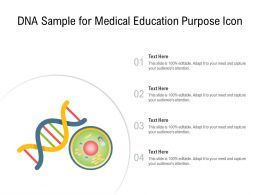 DNA Sample For Medical Education Purpose Icon