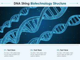 DNA String Biotechnology Structure