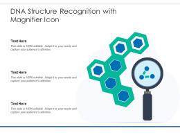 DNA Structure Recognition With Magnifier Icon