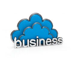 Do Business By Cloud Service Stock Photo
