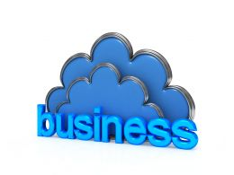 Do Business Cloud Computing Stock Photo