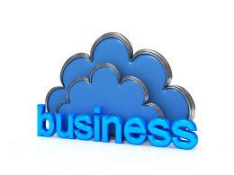 Do Business Cloud Computing Stock Photo