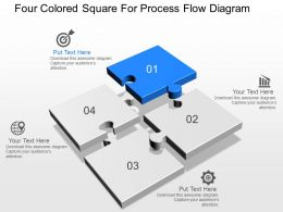 do Four Colored Square For Process Flow Diagram Powerpoint Template