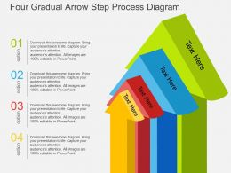 do Four Gradual Arrow Step Process Diagramflat Powerpoint Design