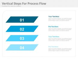 do Four Vertical Steps For Process Flow Flat Powerpoint Design