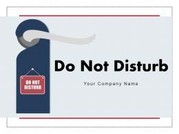 Do Not Disturb Computer Screen Hanging Signage Painted Handle