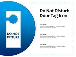 Do Not Disturb Door Tag Icon