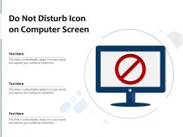Do Not Disturb Icon On Computer Screen