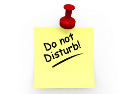 Do Not Disturb On Sticky Note Stock Photo