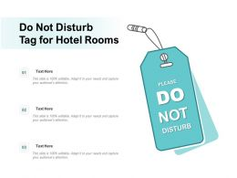 Do Not Disturb Tag For Hotel Rooms