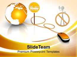 Do Not Enter E Business Powerpoint Templates Ppt Themes And Graphics 0313