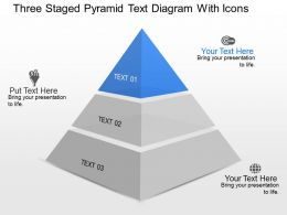 Do Three Staged Pyramid Text Diagram With Icons Powerpoint Template