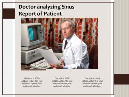 Doctor Analyzing Sinus Report Of Patient