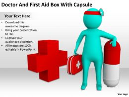 Doctor And First Aid Box With Capsule Ppt Graphics Icons Powerpoint
