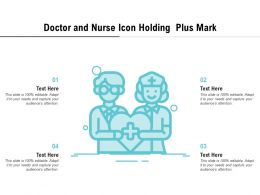 Doctor And Nurse Icon Holding Plus Mark