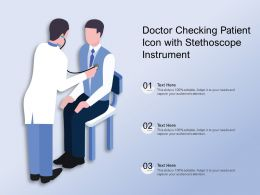 Doctor Checking Patient Icon With Stethoscope Instrument