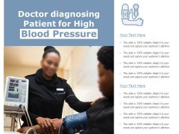 Doctor Diagnosing Patient For High Blood Pressure