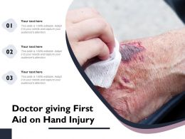 Doctor Giving First Aid On Hand Injury