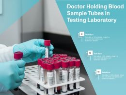 Doctor Holding Blood Sample Tubes In Testing Laboratory