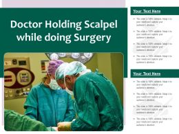Doctor Holding Scalpel While Doing Surgery