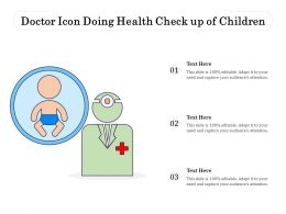 Doctor Icon Doing Health Check Up Of Children