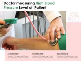 Doctor Measuring High Blood Pressure Level Of Patient