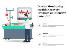 Doctor Monitoring Health Recovery Progress At Intensive Care Unit