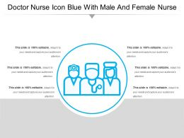 Doctor Nurse Icon Blue With Male And Female Nurse