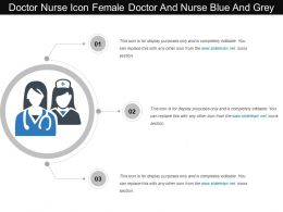 Doctor Nurse Icon Female Doctor And Nurse Blue And Grey