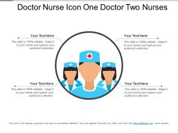 Doctor Nurse Icon One Doctor Two Nurses