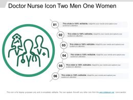 Doctor Nurse Icon Two Men One Women