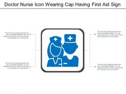 Doctor Nurse Icon Wearing Cap Having First Aid Sign