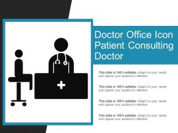 Doctor Office Icon Patient Consulting Doctor