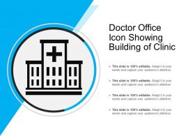 Doctor Office Icon Showing Building Of Clinic