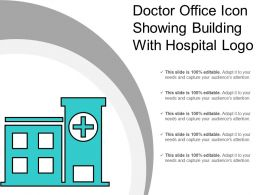 Doctor Office Icon Showing Building With Hospital Logo