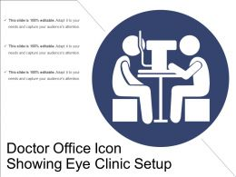 Doctor Office Icon Showing Eye Clinic Setup