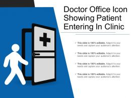 Doctor Office Icon Showing Patient Entering In Clinic