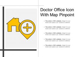 Doctor Office Icon With Map Pinpoint